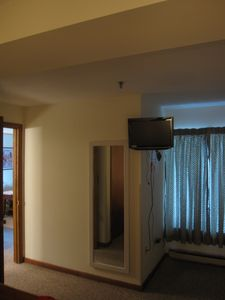 Flat screen cable TV in the bedroom