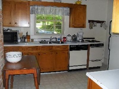 Spacious,fully equipped kitchen.DW,coffeemaker, microwave, stove/oven,refridge