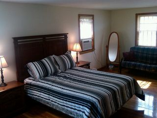 Hyannis - Hyannisport house photo - 2012 Master Bedroom- New Queen bed with Full Size Futon Couch/bed