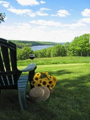 Orland house photo - Wine and b/eyed susans