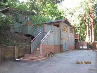 Nestled among the redwoods just a 1/2 mile above Aptos Village.
