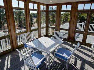 Katama house photo - Large Screened Porch & Deck Open Off Great Room For Outdoor Dining & Entertaining
