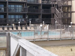 Carolina Beach condo photo - pool view from beach