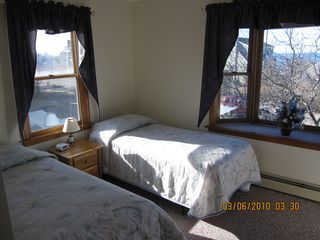 East Dennis house photo - Twin size bedroom with ocean views