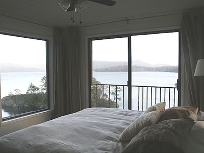 Master bedroom with a lovely king bed and spectacular views.