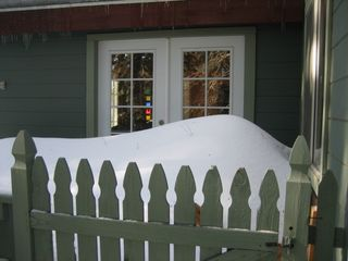 Lake Arrowhead cabin photo - Snow on deck