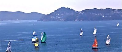 Sunday Sailboat Race, as viewed from one of our two Balconies