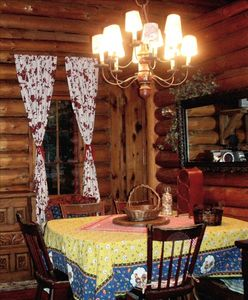 Harbor Springs cabin rental - full log cottage with open ceilings