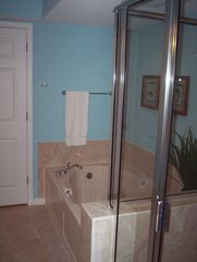 Fort Walton Beach condo photo - Master Bath has separate shower and whirlpool tub