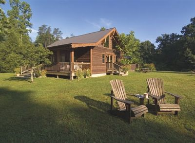 Large Cabin in West Virginia The Meadows looking at Greatroom