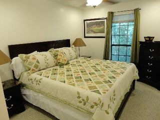 Gulfport house photo - 2nd Bedroom, King size bed and Flat Screen TV (bedding same as Master)