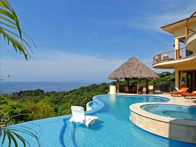 Contemporary designed villa with breathtaking views of the bay and south coast.
