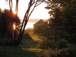 Eastport house photo - Bay & Campobello view from the deck - sunrise