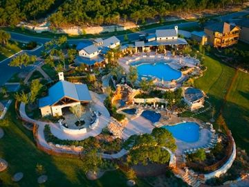 Aerial View of The Hollows Resort