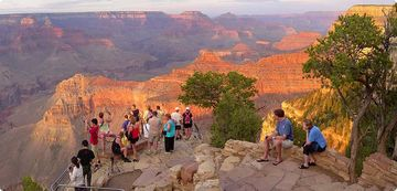 Stunning views of natures wonder at the south rim of the Grand Canyon