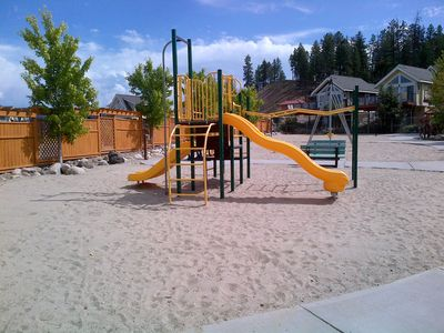 kids playground with soft sand