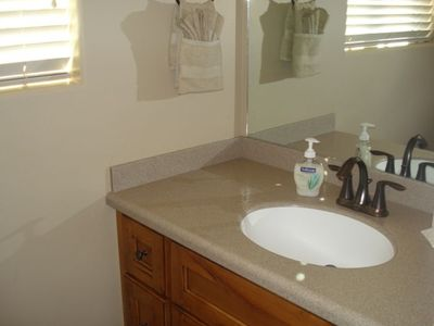 Sink in master bathroom