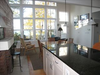 Pentwater house photo - Kitchen/Great room w/ 16 ft. windows & lake view