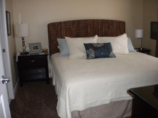 Splash Resort condo photo - King size bed with new pillow top mattress and black out curtains