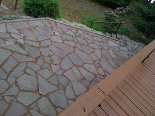 Lake Wallenpaupack cottage photo - Large Flagstone Patio