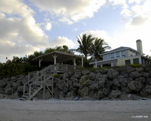 Siesta Key house photo - at dawn, a silent sanctuary by the gulf of Mexico