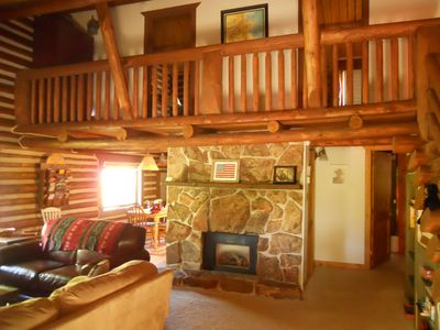 Winter Park cabin rental - Bright and spacious living room!