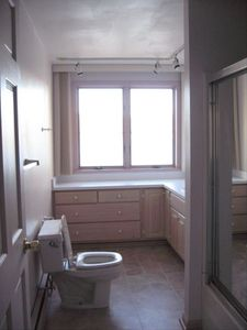 Penn Yan house rental - Downstairs full bathroom, massage shower head, lake views!