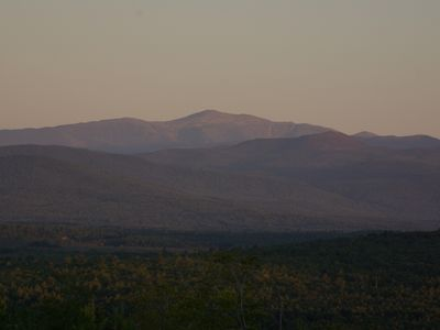 View of Mt Washington and National Forest from the deck