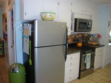 Stainless Steel Kitchen with lots of Cottage Charm!