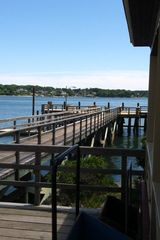 Little Diamond Island cottage photo - Looking down towards the dock from the Casino, great for swimming and fishing.