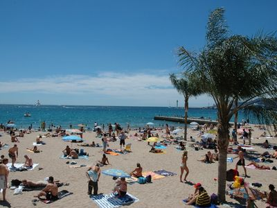 Cannes sand beaches (1min walk)