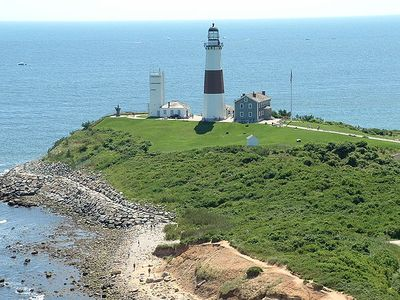 Montauk Point Lighthouse and Camp Hero is a 15 minute drive from our house.