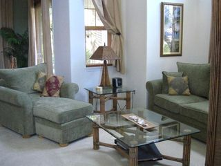 Living Room with Chaise Lounge & Large Couch that pulls out!