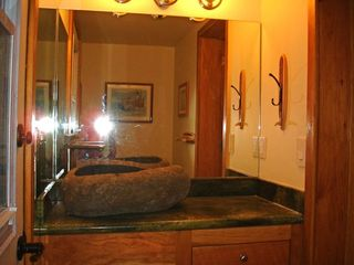 Sunset Beach house photo - The Lower Guest Bath (right out door is private tropical outdoor shower)