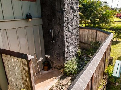 Outdoor Shower and Atrium