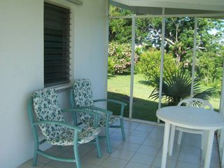 Great Exuma cottage photo - Screened -In Porch with ocean view