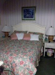 Queen Size bed with adjoining full bath. Quality mattress for sleeping comfort! - Myrtle Beach Resort condo vacation rental photo