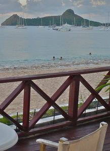 Indulge in sun, sand & fun on lovely Reduit Beach near historic Pigeon Island.