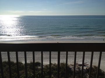 Beachview from our 7th floor balcony!!!