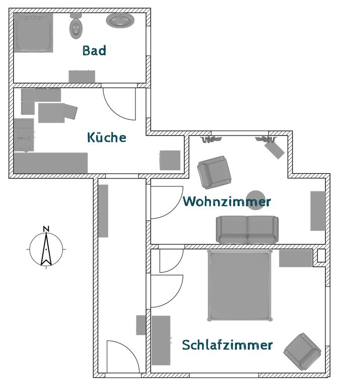 Accessible apartment near Osterburg in Ostfriesland
