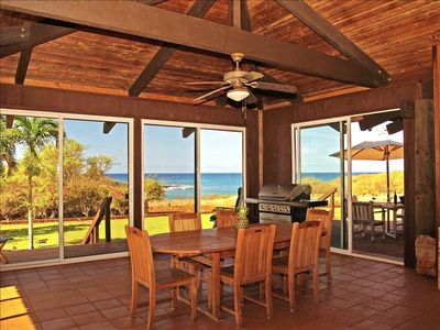 Enclosed 775 square foot lanai, perfect for dining, or napping