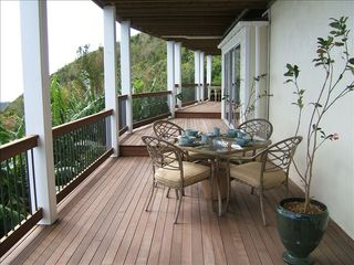 Bordeaux Mountain apartment photo - Your deck and outside dining