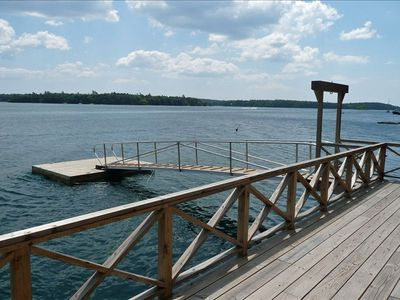 Quahog Bay from 16' x 33' dock. Easy launch of kayak or other small watercraft