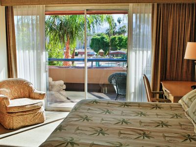 Master Bedroom of One Bedroom Unit at the Marquis Villas Resort