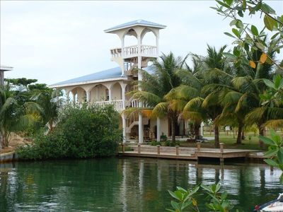 'Arches' , a private vacation home in Placencia, Belize, Central America