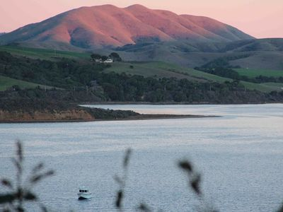 Black Mountain and Tomales Bay view from the front yard www.TheWhitneyHouse.com