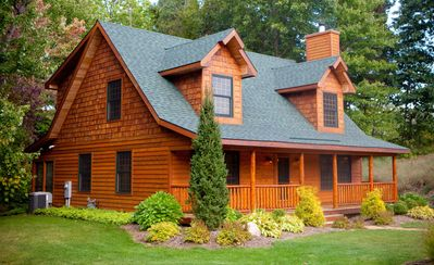 Knotty Pines Luxury Cabin With Private Hot Vrbo