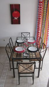 Caleta de Fuste (El Castillo) villa rental - Dining table - comfortable for 6 persons