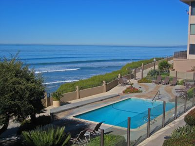 Del Mar condo rental - Two of the Del Mar Beach Club Pools are Ocean Front, this is the North Pool