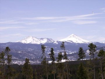 Silverthorne condo rental - Wow! View looking straight out of the front window. What a view!